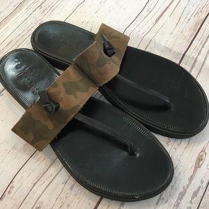 JOIE A La Plage Nice Camo leather Sandals.
